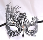 Venetian Style Black Metal Filigree Mask a (1) (1)
